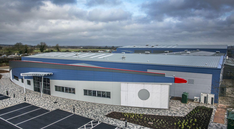 Overhead at the Aero Fabrications building, Watnall
